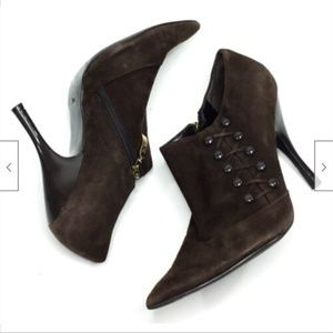 Guess Kaidy Stiletto Heel Ankle Booties 7.5 Suede